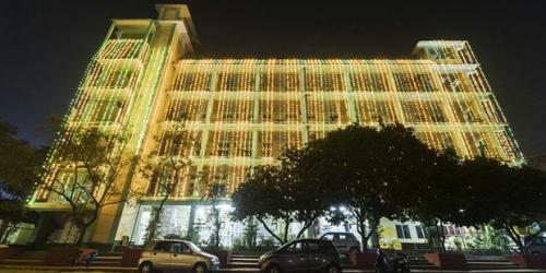 Illumination of AJB on the occasion of Silver Jublee Celebrtion.Photo Credit:Binoy B Gogoi