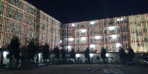 Illumination of AJB on the occasion of Silver Jublee Celebrtion.Photo Credit:Binoy B Gogoi